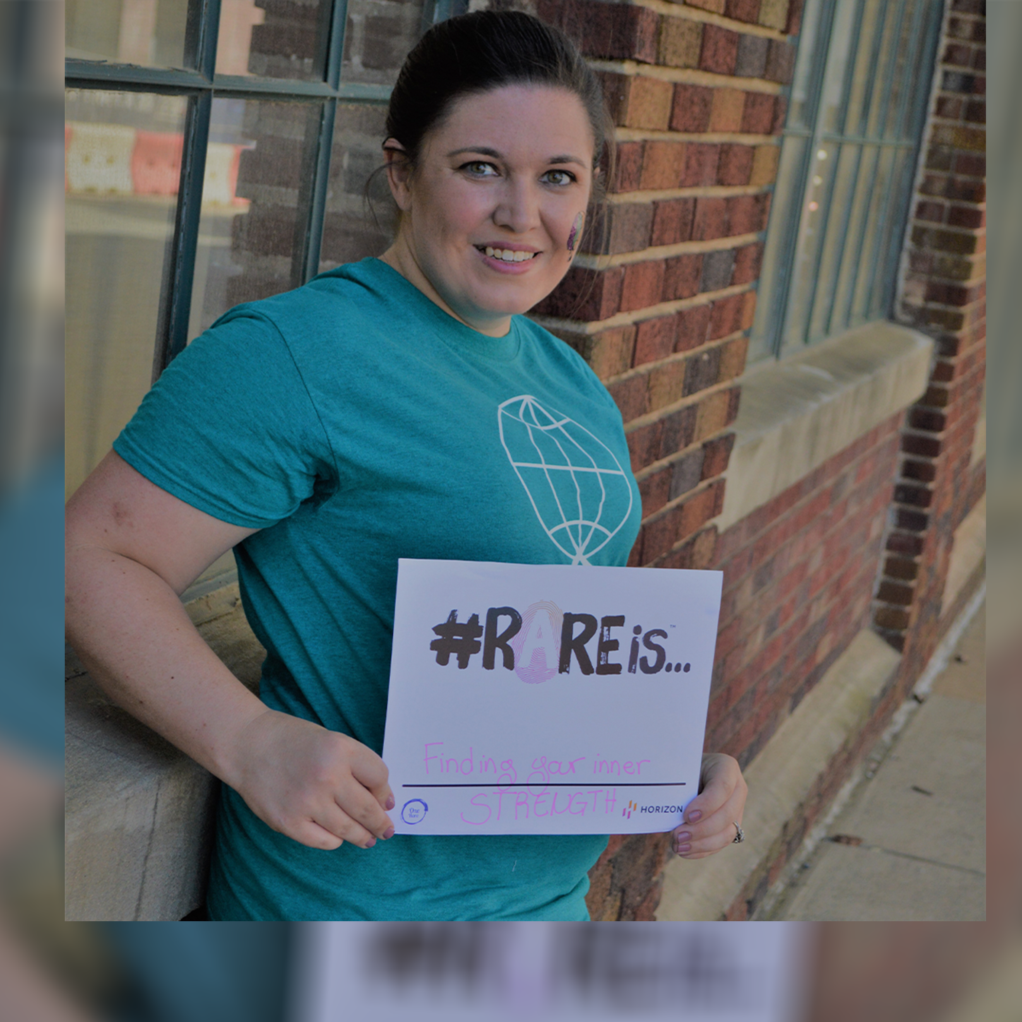 Lindsey Kizer smiles facing the camera shares how joining an advocacy organization impacted her after her diagnosis with a rare disease called narcolepsy