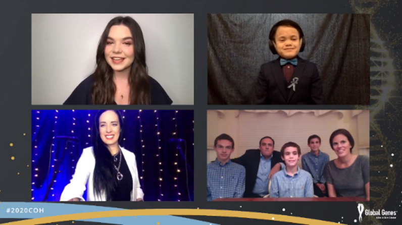 Kat Perkins speaks at the RARE Champion of Hope Live Stream with Kat Perkins and Family of John living with Tuberous Sclerosis Complex